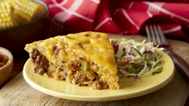 Impossibly Easy Barbecue Beef Pie
