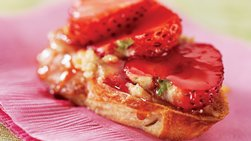 Skinny Strawberry Honey Bruschetta