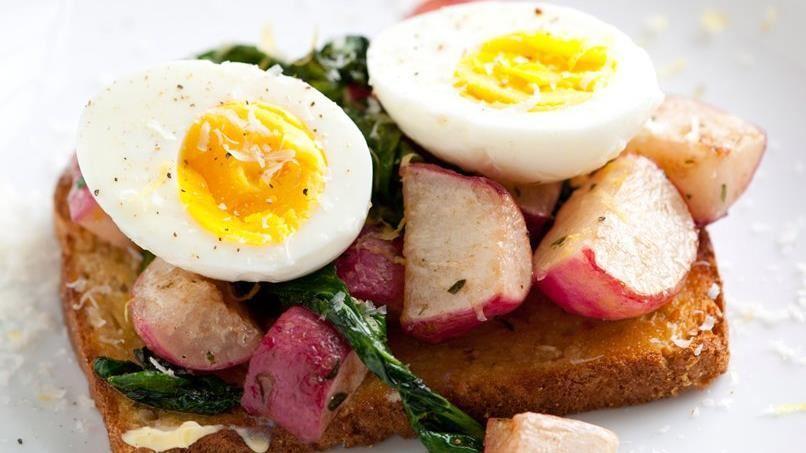 Butter-Braised Radish Open-Face Sandwiches