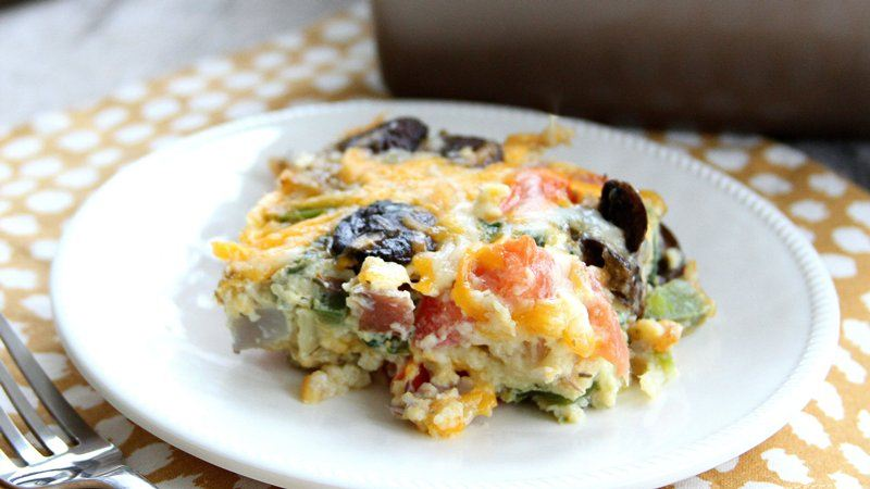 Loaded Italian Veggie Breakfast Bake