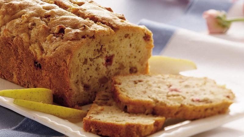 Pear-Rhubarb Quick Bread