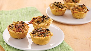 Mini Spinach Quiches