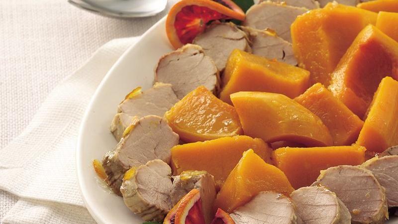 Slow-Cooker Orange Pork Tenderloin with Butternut Squash