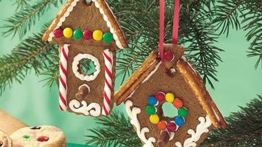 Gingerbread Cookie Birdhouse Ornaments