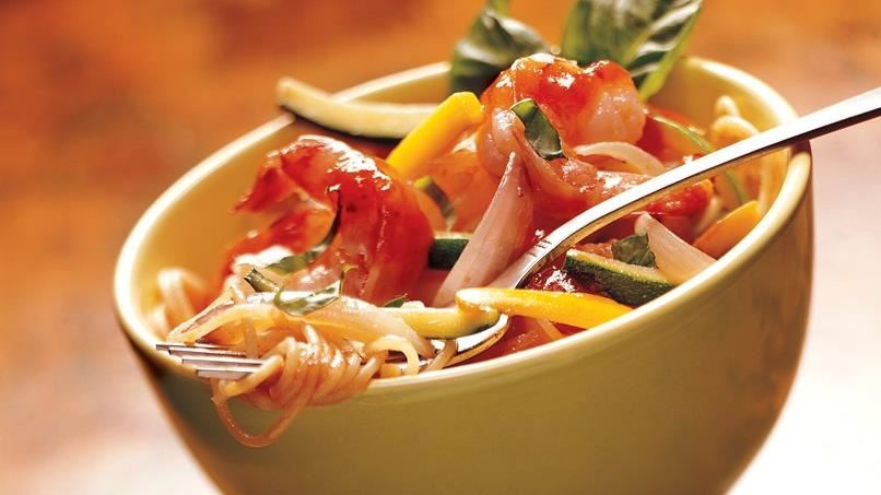 Marinara Shrimp and Vegetable Bowls