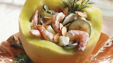 Shrimp in Melon Salad