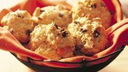 Glazed Cinnamon-Raisin Drop Biscuits