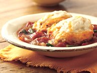 Tomato-Vegetable Stew with Cheddar Cheese Dumplings