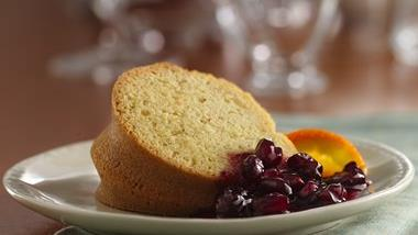 Gluten-Free Holiday Cake with Cranberry Sauce