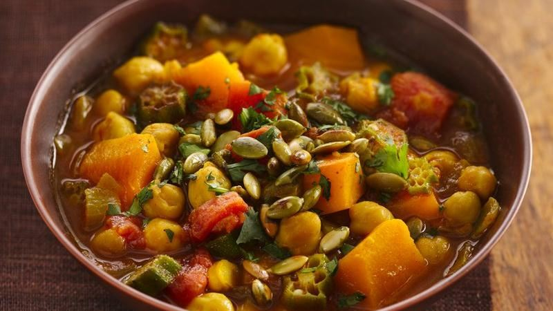 African Squash and Chickpea Stew