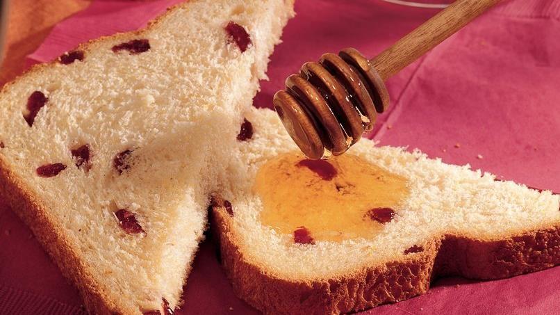 Bread Machine Cranberry Cornmeal Bread