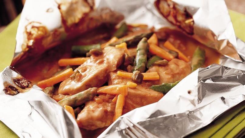 Grilled Pan-Asian Turkey Packs