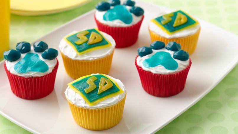 Scooby-Doo Paw Print Cupcakes