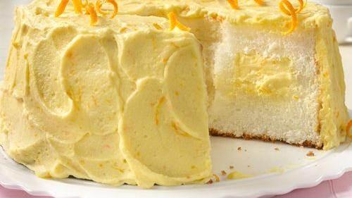 Strawberry Cream Angel Food Cake recipe from Betty Crocker