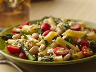 Gluten-Free Basil Penne with Asparagus and Feta