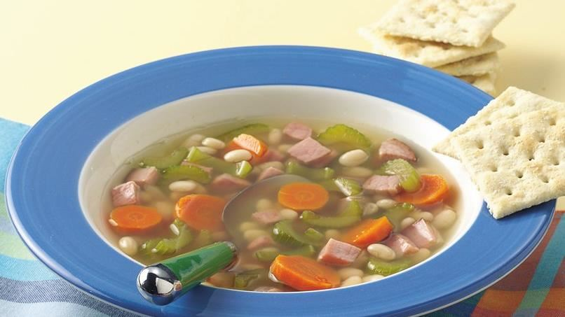 Slow-Cooker Vegetable, Bean and Ham Soup