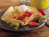 Country Eggs in Tortilla Cups