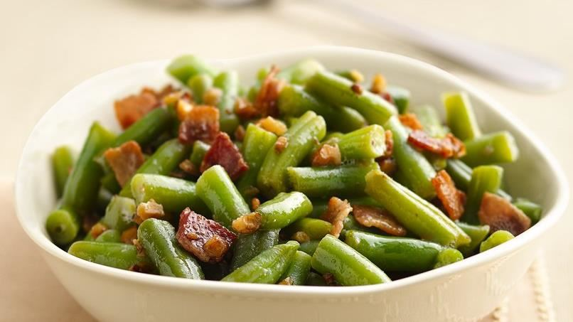 Green Beans with Bacon-Walnut Vinaigrette