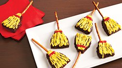 Witch's Broom Brownie Treats