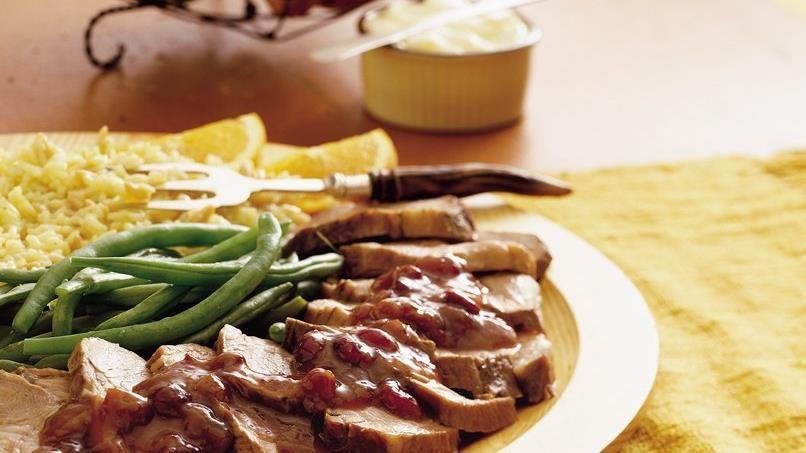 Slow-Cooker Pork Roast with Cranberries