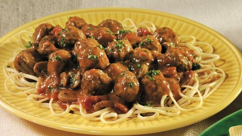 Easy Skillet Meatballs and Gravy