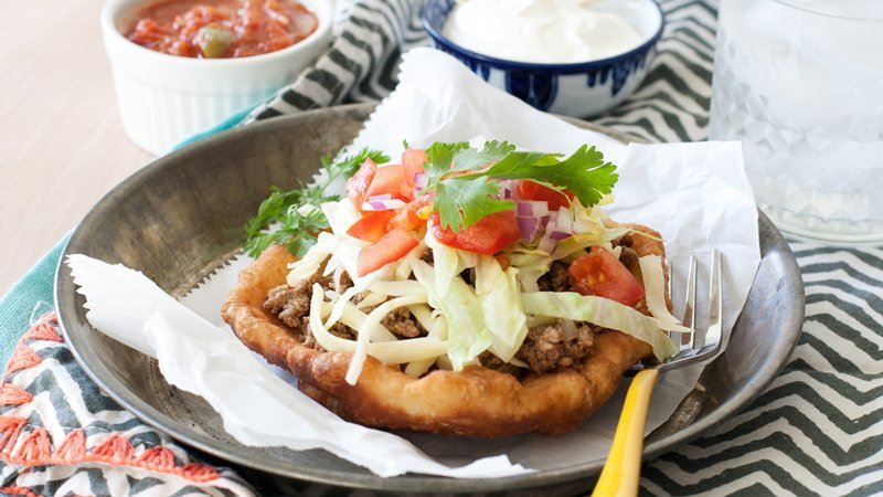 Slow-Cooker Beef Fry-Bread Tacos