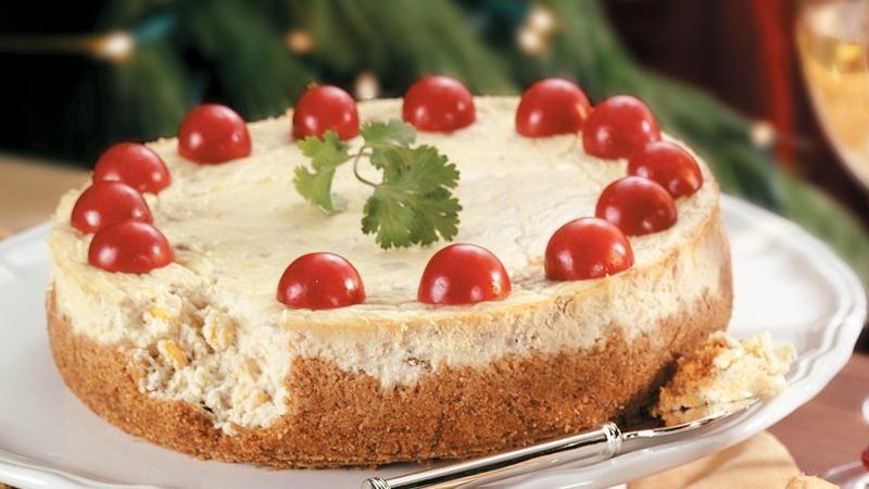 Green Chile Cheesecake