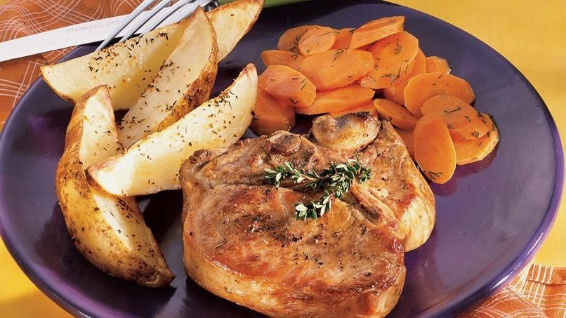 Peppery Pork Chops and Potatoes