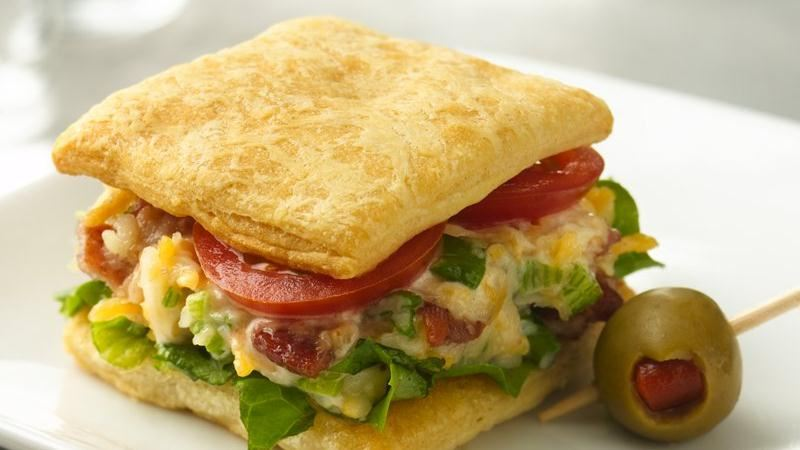 Cheesy BLT Mini Sandwiches