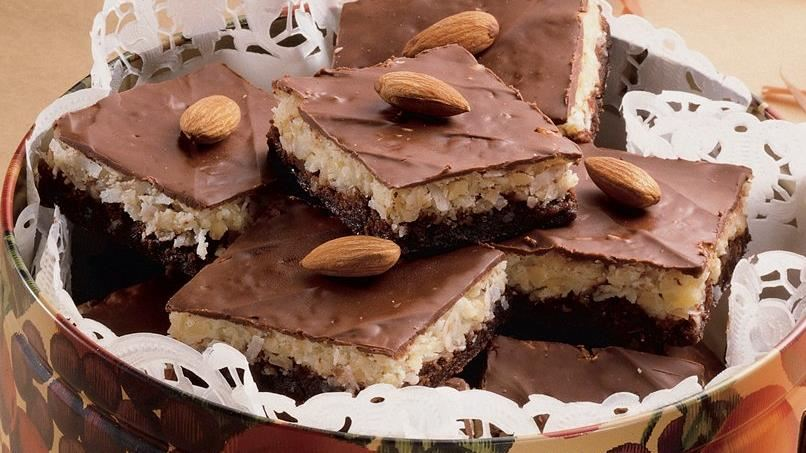 Almond Macaroon Brownies