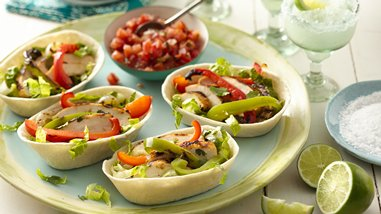 Grilled Chicken Fajita Boats