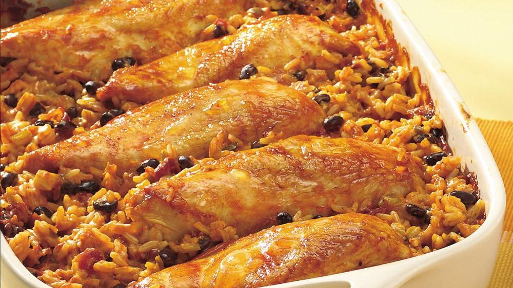 Salsa Chicken and Rice Casserole
