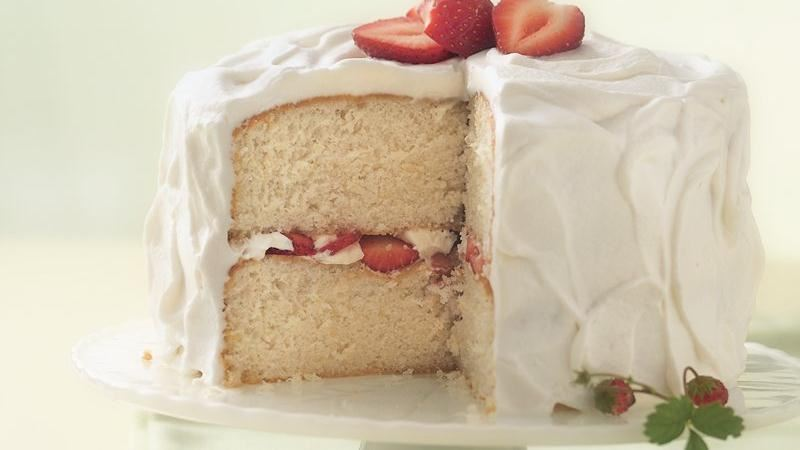Strawberry-Amaretto Cake