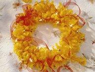 Golden Glow Candy Wreath
