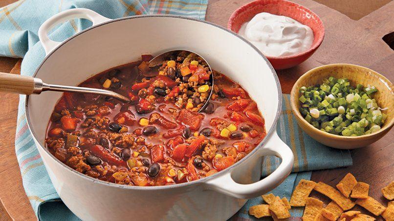 Beefy Corn and Black Bean Chili