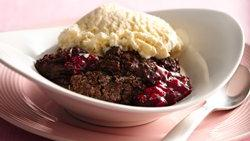 Chocolate Raspberry Cobbler