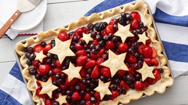 Star-Spangled Red, White & Blue Slab Pie