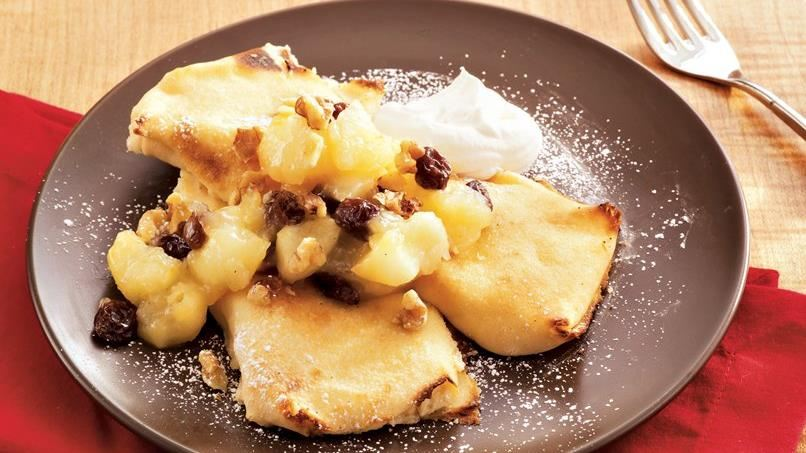 Apple-Raisin Cheese Blintzes