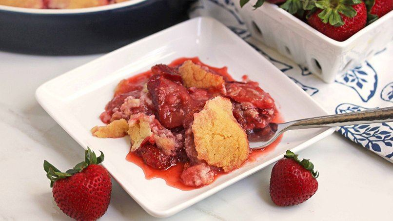 Strawberry Cookie Cobbler