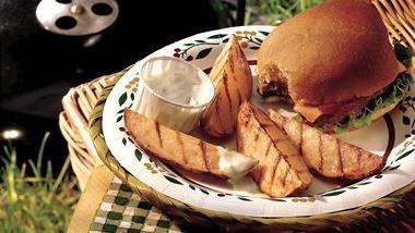 Grilled Buffalo Potato Wedges
