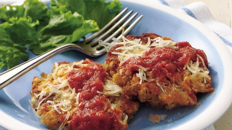 Chicken Cakes Parmigiana