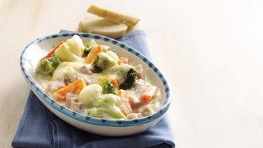 Ham and Vegetables au Gratin