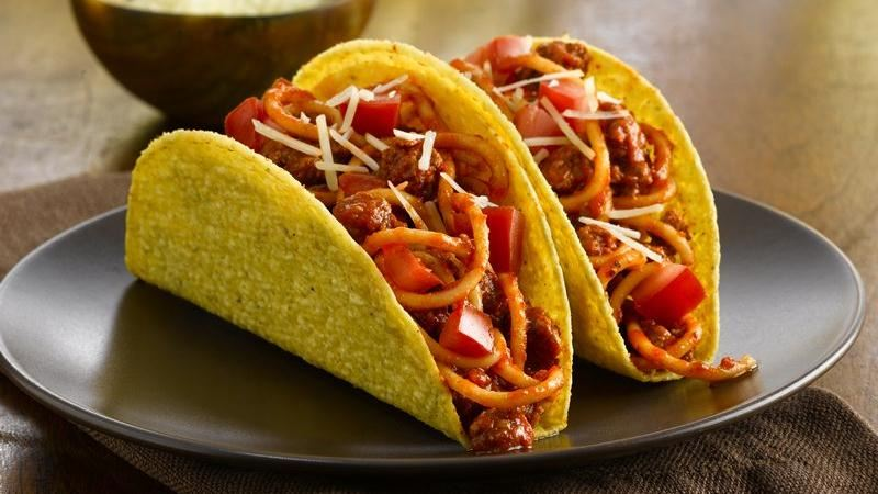 Fiesta Spaghetti Tacos