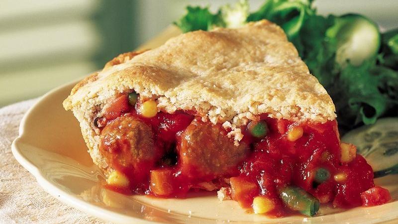 Hearty Meatball Pie