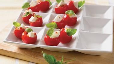 Fresh Mozzarella in Tomato Cups