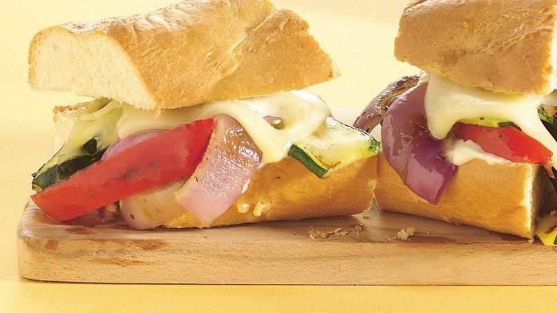 Warm Grilled Veggie Sandwiches