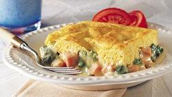 Ham and Broccoli Cheese Pot Pie