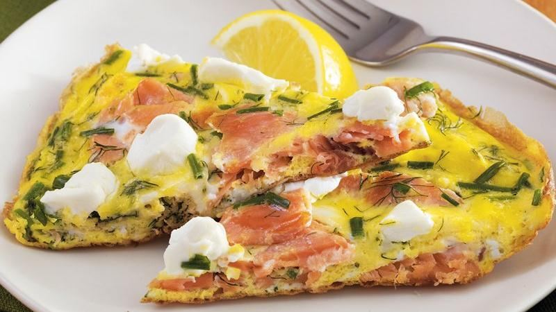 Smoked Salmon and Herb Frittata