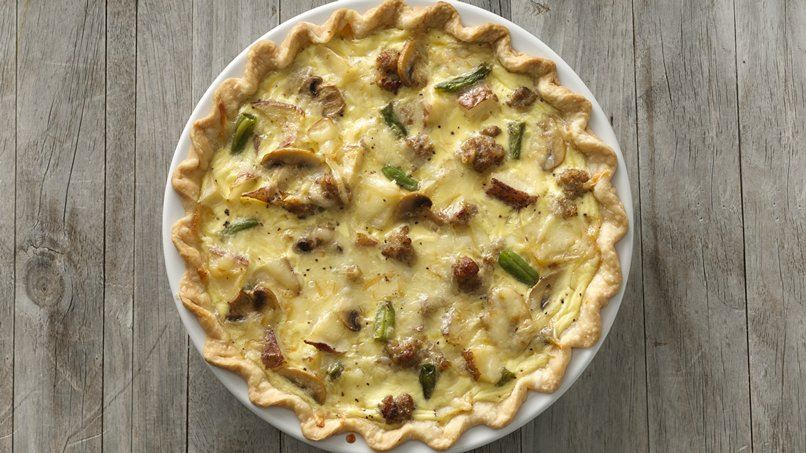 Roasted Potato and Sausage Quiche