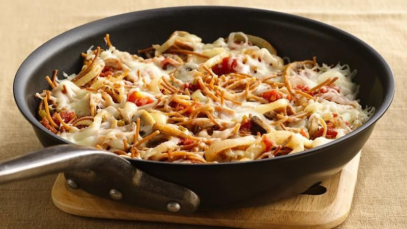 Cheesy Mexican Mushroom Skillet